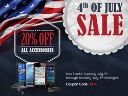 July 4th sale: Save 20% all week on all BlackBerry accessories at CrackBerry