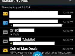 Dark Hub options look set to arrive in BlackBerry 10.3.1