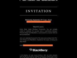 Porsche Design P'9983 launch event on Sept. 17th