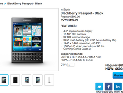 BlackBerry Passport now available for $599