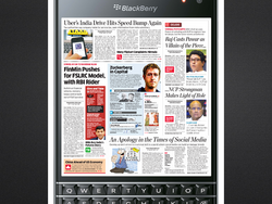 BlackBerry takes the front page of the Economic Times India