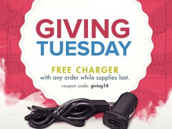Free Charger with any Order!