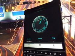 Data speed checking on BlackBerry 10
