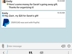 Send and Receive Money with PayPal through BBM