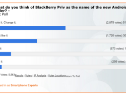 80% of BlackBerry fans can't stand the name Priv