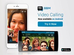 BBM video calling now supported on iOS and Android globally
