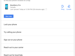 Google's My Account helps to find lost phones