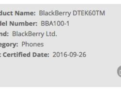 BlackBerry 'Argon' passes through the FCC