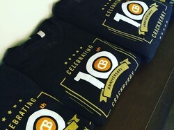 Who wants a CrackBerry 10th Anniversary t-shirt?