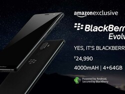 BlackBerry Evolve will be available from Amazon India on October 10