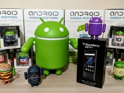 Enter to win a BlackBerry KEY2 LE and Android mini figure from CrackBerry