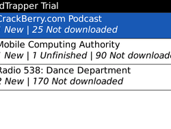 PodTrapper – A BlackBerry Podcast Aggregator and Player