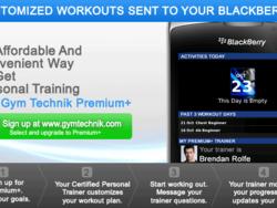 Online Personal Training comes to BlackBerry via Gym Technik