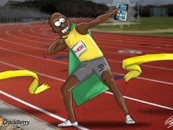 Usain Bolt - Fastest BlackBerry User Alive
