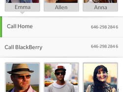 Hot: New screen capture from BlackBerry 10 Contacts app!