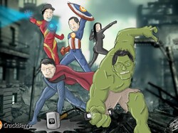 The BlackBerry Avengers - Coming soon to a carrier store near you!