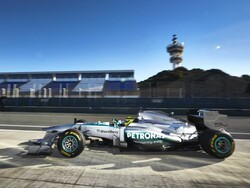 Photo Gallery: Team Mercedes 2013 Formula 1 car with BlackBerry branding