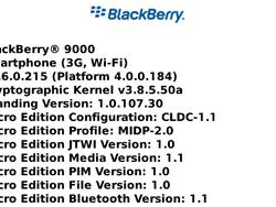 BlackBerry Bold OS 4.6.0.215 Found in the Wild!