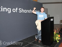 I'm going to Waterloo next week for BlackBerry's Annual General Meeting of Shareholders... what do you want me to ask?!