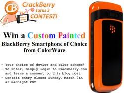 CrackBerry Turns 3 Birthday Contest: Win a Custom-Painted ColorWare BlackBerry Smartphone!