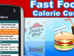 Fast Food Calorie Counter for BlackBerry Smartphones