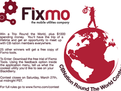 Best CrackBerry Contest Prize Ever: Win a Trip Around the World Courtesy of Fixmo Tools!!!