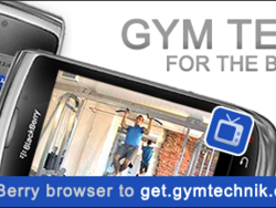 Gym Technik fitness app for BlackBerry updated with small tweaks and bug fixes