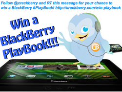 CrackBerry Twitter Contest: Your Chance to Win a BlackBerry PlayBook just by following us on Twitter and Tweeting a message!