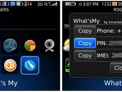 Free What's My App Gives Quick Access to BlackBerry Device PIN and More from Home Screen (for non-techies)