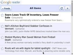 Google Reader iPhone WebApp Works for BlackBerry Smartphones ... Sort Of
