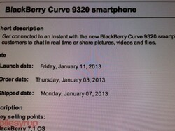 BlackBerry Curve 9320 lands on Bell January 11th