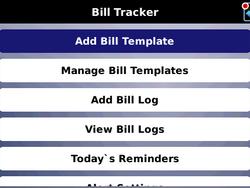 Bill Tracker for BlackBerry