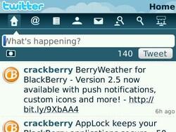 Setting up Twitter for BlackBerry