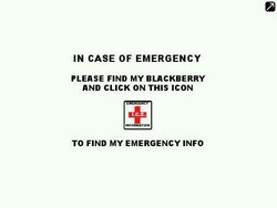 Review: In Case of Emergency (ICE) for BlackBerry