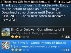 Download SimCity Deluxe and The Sims 3 free compliments of BlackBerry