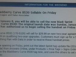 Sprint 8530 Available at RadioShack Today?