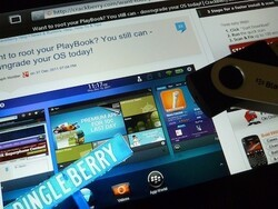 How to connect a USB flash drive (pen drive) to your BlackBerry PlayBook