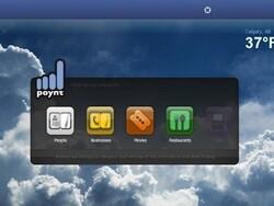 Poynt running on the BlackBerry PlayBook
