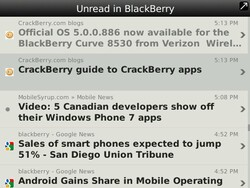 Feeds - Google Reader client for BlackBerry now available in BlackBerry App World