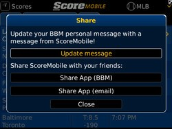ScoreMobile for BlackBerry updated with BBM integration