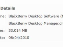 BlackBerry Desktop Manager for Mac updated to v1.0.4 with Torch 9800 support