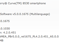 Official OS 5.0.0.1030 for the BlackBerry Curve 8530 now available from Sprint