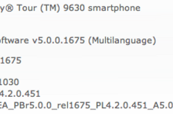 Official OS 5.0.0.1030 for the BlackBerry Tour 9630 now available from Sprint