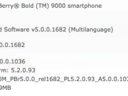 Official OS 5.0.0.1036 for the BlackBerry Curve 8520 and BlackBerry Bold 9000