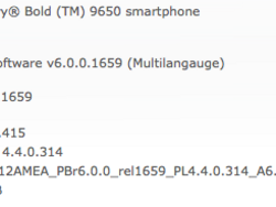 Official OS 6.0.0.415 for the BlackBerry Bold 9650 now available from Sprint