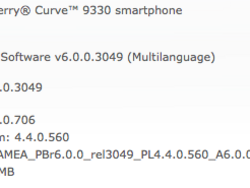 Official OS 6.0.0.706 for the BlackBerry Curve 3G 9330 and Style 9670 from Sprint