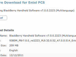 Official OS 7.0.0.514 for the BlackBerry Curve 9380 from Entel PCS