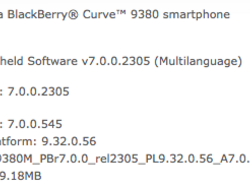 Official OS 7.0.0.545 for the BlackBerry Curve 9380 from Claro
