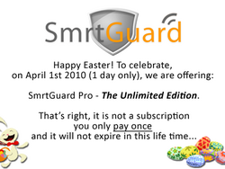 Its NOT April Fools Sale - SmrtGuard Pro Unlimited Edition Lifetime License Today Only