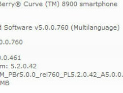 Official OS 5.0.0.461 for the BlackBerry Curve 8900